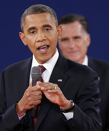 TIGHT CONTEST: United States President Barack Obama and Republican challenger Mitt Romney are neck and neck in the polls going into the third and final debate.