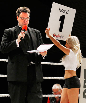Used to slugging it out in the courtroom, top lawyer Greg King turned his hand to the boxing ring as MC for the Charity Fight Night in Upper Hutt last month.