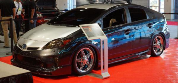 A Toyota Prius on display at the Sema Show in Las Vegas.