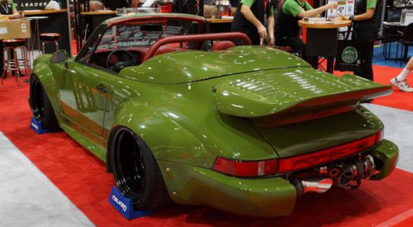 A Porsche 911 on display at the Sema Show in Las Vegas.