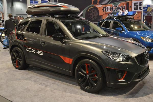A Mazda CX-5 Super25 at the 2012 Sema Show in Las Vegas.