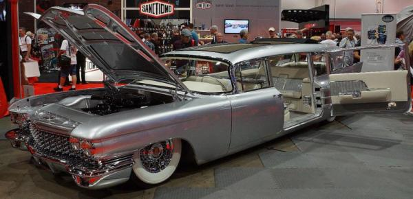 A tricked out Cadillac wagon at the 2012 Sema Show in Las Vegas.