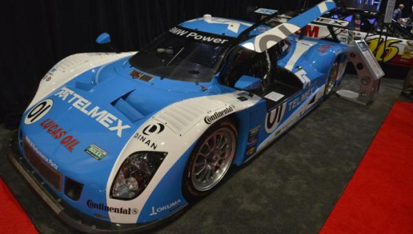 The Telmex BMW Grand-Am Car at the 2012 Sema Show in Las Vegas.
