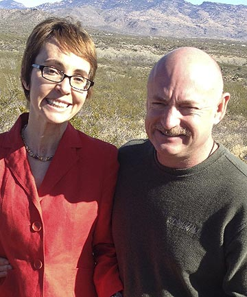 Former US politician Gabrielle Gifford with husband Mark Kelly, a retired astronaut.