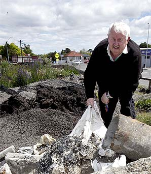 The head of the Dannevirke Community Board is fed up with industrial waste being dumped at the town's railway station and wants it removed.