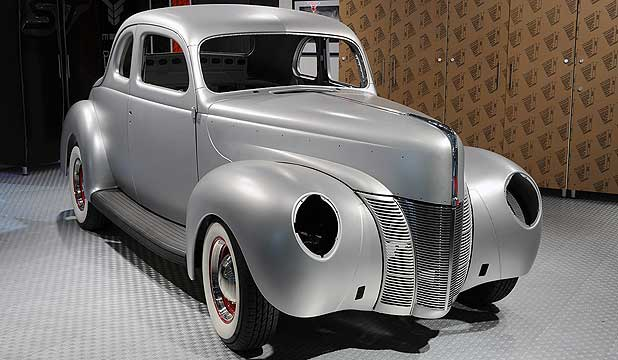 Ford unveils new body shells for the 1940 Ford Coupe at the Sema Show in Las Vegas.