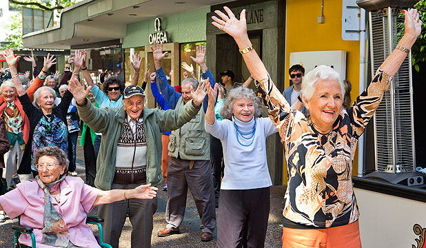 The World's Oldest Flash Mob