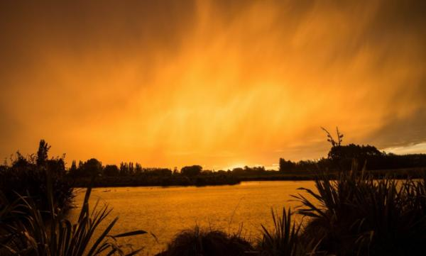 Sunset in Christchurch, 10 November 2012