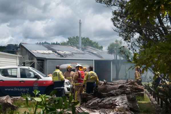 Whangamata Area School fire
