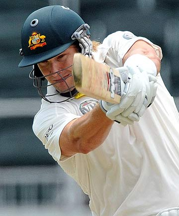 Shane Watson top scored in Australia's successful second innings run chase in winning the first test against the West Indies in Bridgetown.