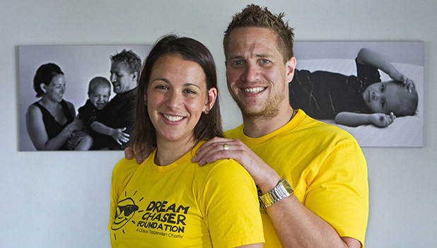 DREAM CHASERS: Keri and Ryan Topperwien are having a fundraising ''Marrow-thon'' fun run for the charity they have established in memory of their son, Chace.