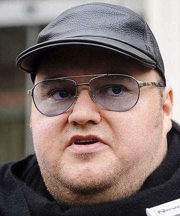 SPIED ON: Millionaire internet entrepreneur Kim Dotcom.