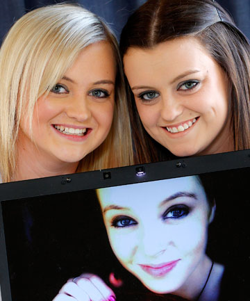 Sisters Lynda, 19, left, and Katy Grimmer, 21