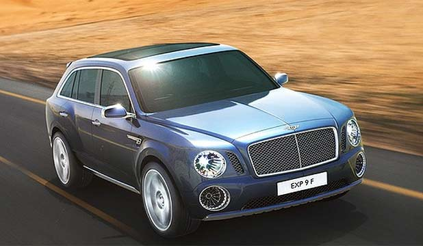 Bentley EXP 9F SUV concept, will look different and is tipped to be called F