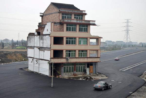 A roundabout house