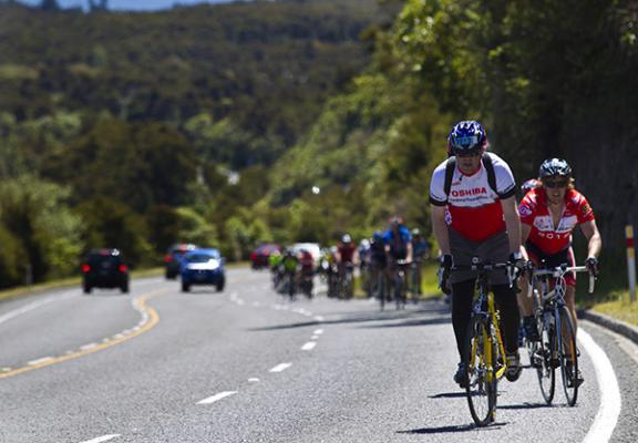 Thousands of riders from around the world converged on Taupo for the annual round-the-lake cyc