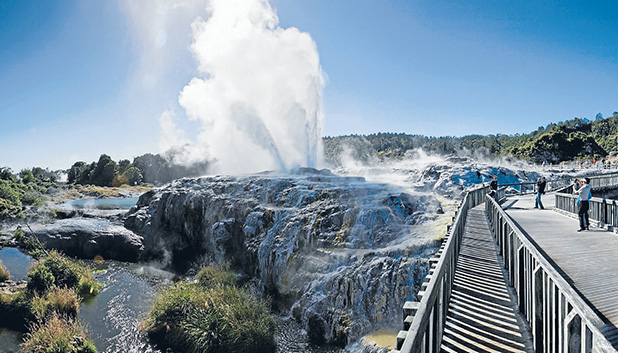 The geysers of Te Puia remain one of the central North Island's – and New Zealand's – defining tourist attractions.