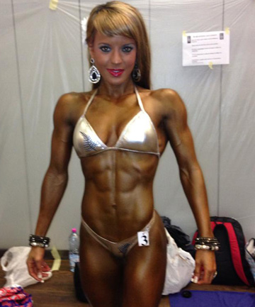 WORLD CLASS: Hamilton personal trainer Jess Coate, 24, came second in the women's shape class of the NAC Universe Bodybuil