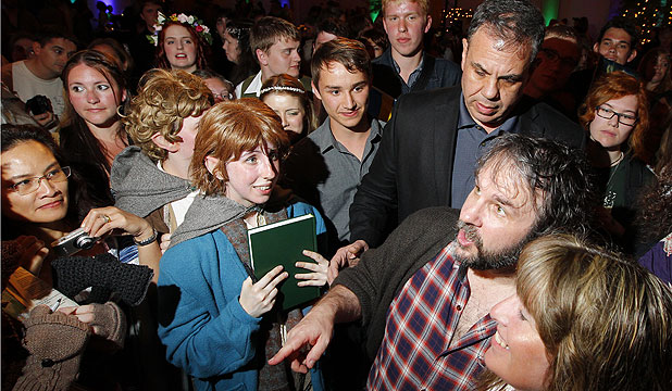 FAN FAVOURITE: Sir Peter Jackson makes a surprise appe