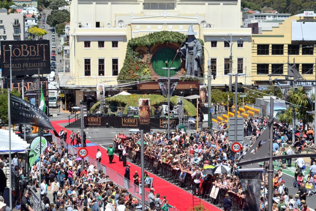 The Hobbit premiere red carpet