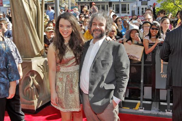 Sir Peter Jackson at Hobbit p