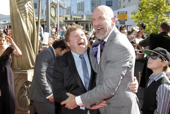 Stephen Hunter and Graham McTavish at Hobbit premiere