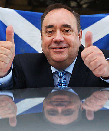 Alex Salmond, Scottish National Party Leader and Scotland's First Minister.