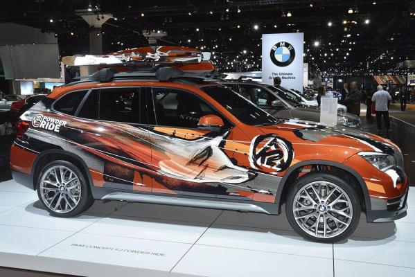 The BMW Concept K2 Power Ride at the 2012 Los Angeles Motor Show.