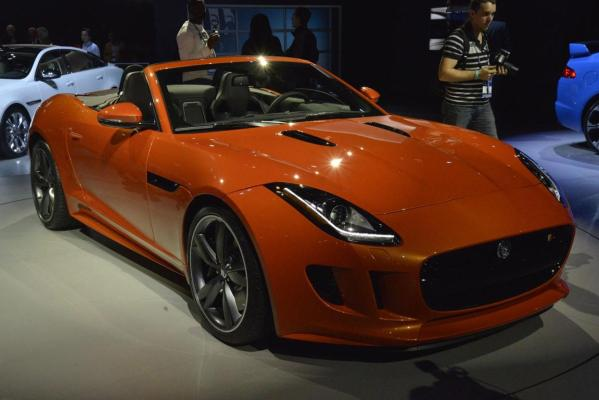 Jaguar's F-Type at the 2012 Los Angeles Motor Show.