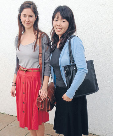 Georgina Harris and Etsuko Murakami.