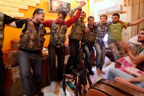 Free Syrian Army relax