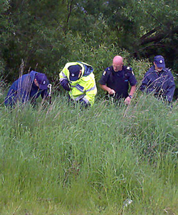 A specialist search team from Christchurch was searching the banks of  the Pareora River at Holme Station Bridge on Saturday.
