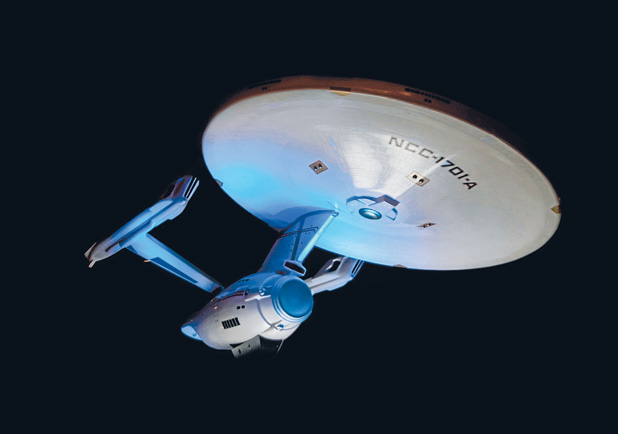 Working replica of Star Trek's USS Enterprise