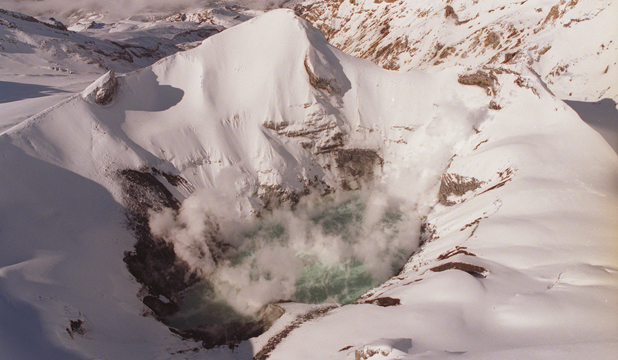Mt Ruapehu crater lake - file shot 2003