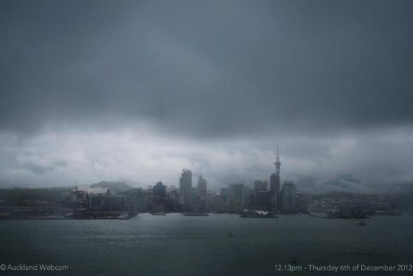 Auckland thunderstorm Dec