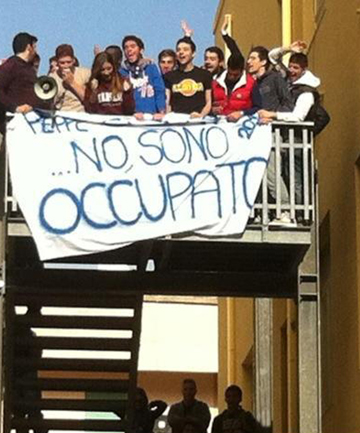 italian students occupation