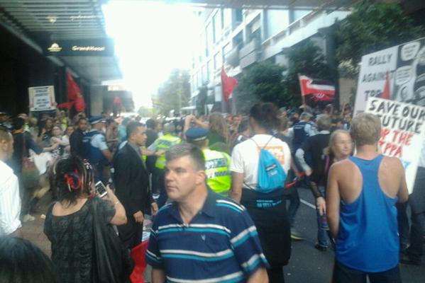 Auckland anti-trade protests