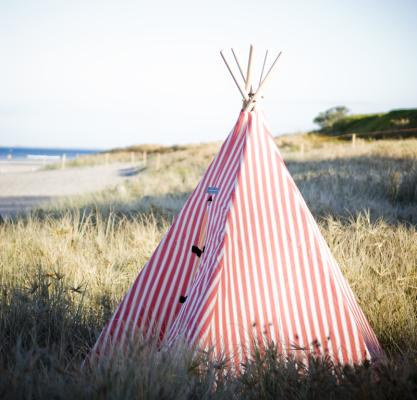 striped teepee