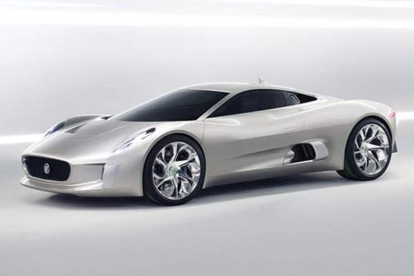 The 2010 Jaguar C-X75 Concept.