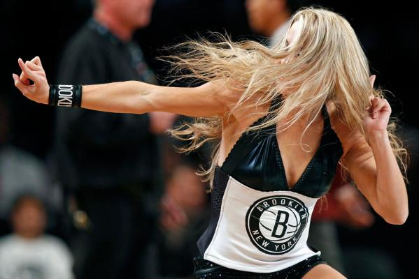 Brooklyn Nets cheerleader