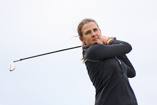 IN FORM: Sarah Bradley had a 1-up victory over