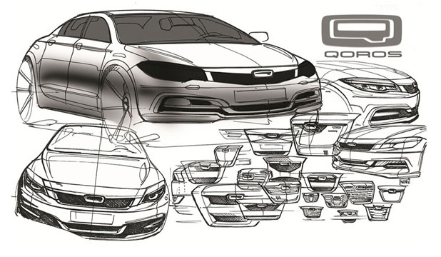 Early drawings of the Qoros