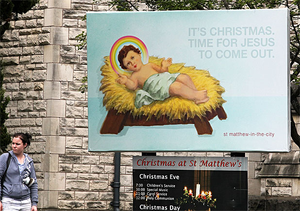 Gay Jesus billboard