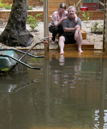 Stratford couple Deborah and Jim Gould had their backyard flooded