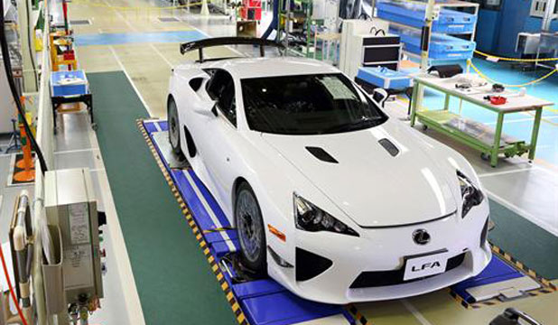 The 500th and last Lexus LFA supercar to be built.