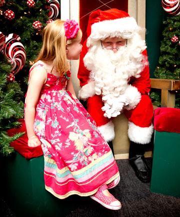 Ellie MacAvoy, 4, with Santa