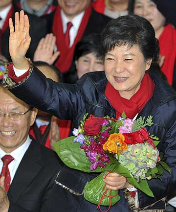 South Korea's first woman president Park Geun-Hye.