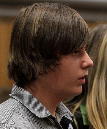 TEEN MURDERER: Jordan Nelson, 13, pleads guilty in the High Court at New Plymouth to the murder of