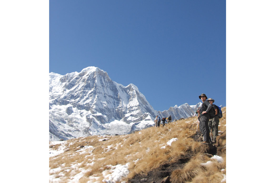 Hiking to Annapurna Sanctuary in Nepal