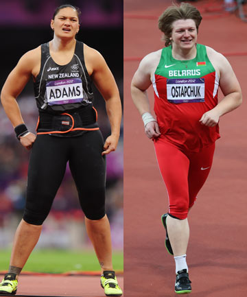 Valerie Adams and Nadzeya Ostapchuk